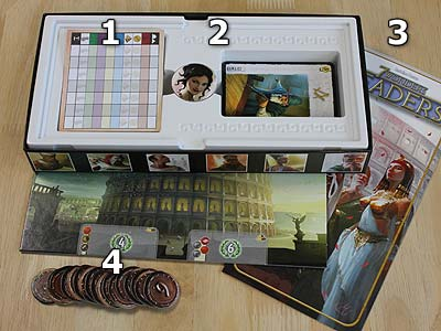 7 Wonders Leaders - Spielmaterial