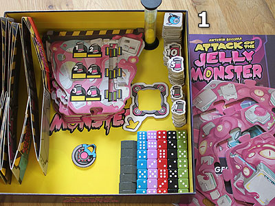 Attack of the Jelly Monster - Spielmaterial