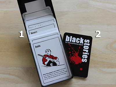 black stories - Spielmaterial