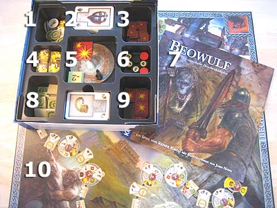 Beowulf - Spielmaterial