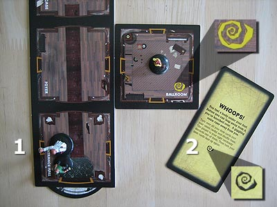 Betrayal at House on the Hill - Spielmaterial eines Spielers