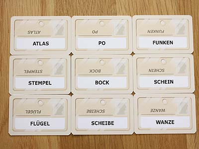Codenames - Wortkarten