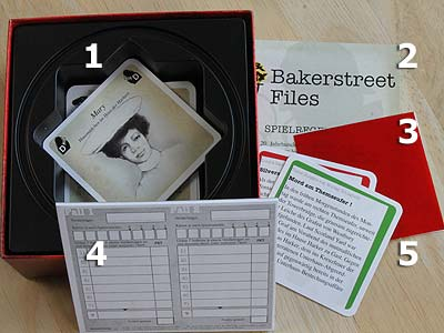 Crime & Mystery - Bakerstreet Files - Spielmaterial