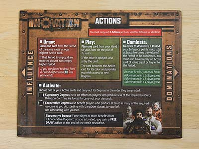 Innovation - Gaming board - Actions