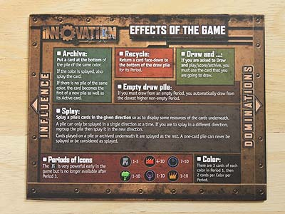 Innovation - Gaming board - Effects of the Game