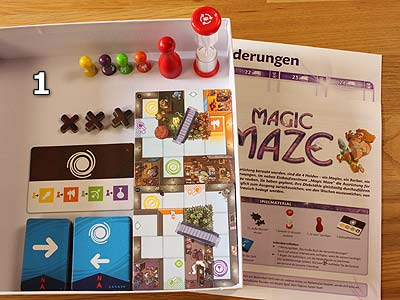 Magic Maze - Spielmaterial