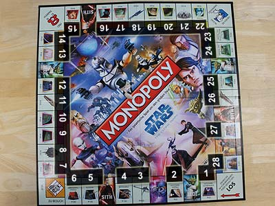 Monopoly - Star Wars - The Clone Wars - Spielbrett