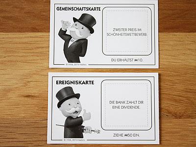 Ereigniskarte Monopoly