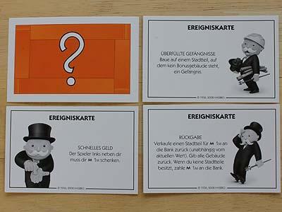 Monopoly Ereigniskarten