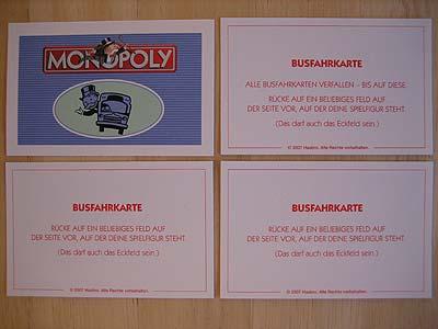 Gemeinschaftskarten Monopoly