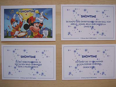 Monopoly Disney Edition - Showtime-Karten