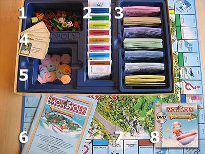 Monopoly Trauminsel - Spielmaterial