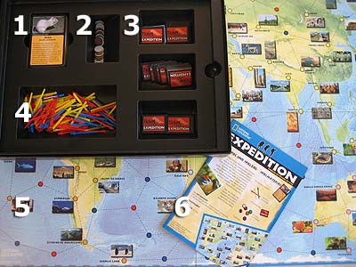 National Geographic Expedition - Spielmaterial