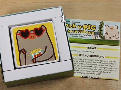 Pick-a-Pig - Spielmaterial