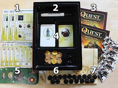 Quest - Angriff der Orks - Spielmaterial