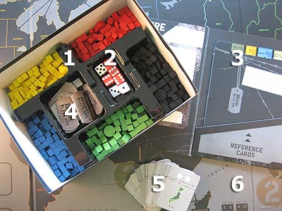 Risk Black Ops - Spielmaterial