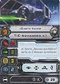 Star Wars X-Wing Miniaturen-Spiel - Erweiterung-Pack - TIE-Advanced - Schiffskarte - Darth Vader