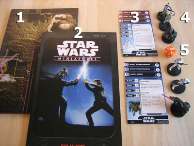 Star Wars Miniatures - Starter Set - Spielmaterial