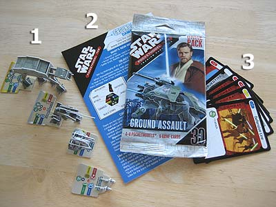 Star Wars - Pocketmodel - TCG - Inhalt eines Boosters