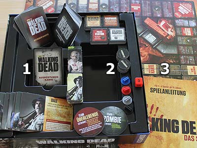 The Walking Dead - Das Spiel - Spielmaterial