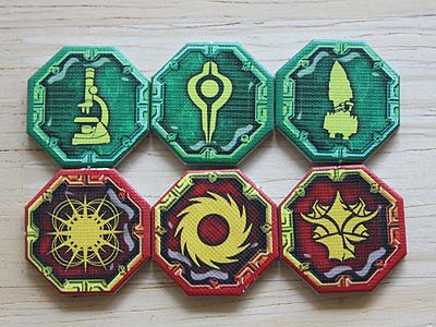 Twilight Imperium 3 - Shards of the Throne - Space Domain Counters