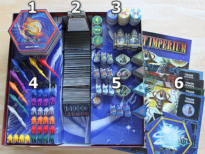 Twilight Imperium 3 - Shards of the Throne - Spielmaterial