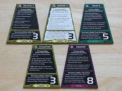 Twilight Imperium 3 - Shards of the Throne - Strategy Cards