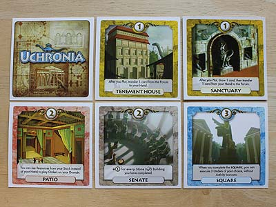 Uchronia - Building cards