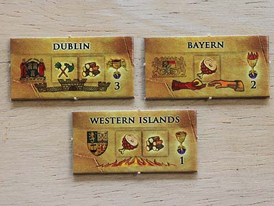 Warriors & Traders - Provinz-Spielmarken