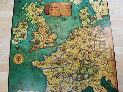 Warriors & Traders - Spielbrett - Westeuropa
